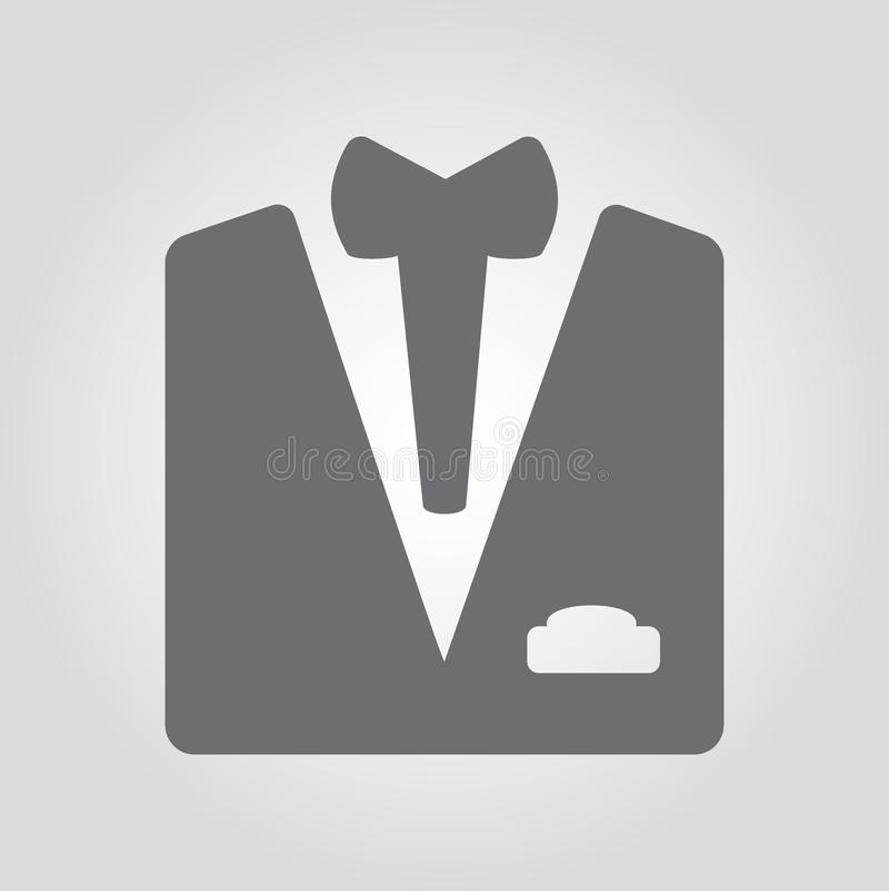 Kostiumu i łęku krawata ikona ilustracji