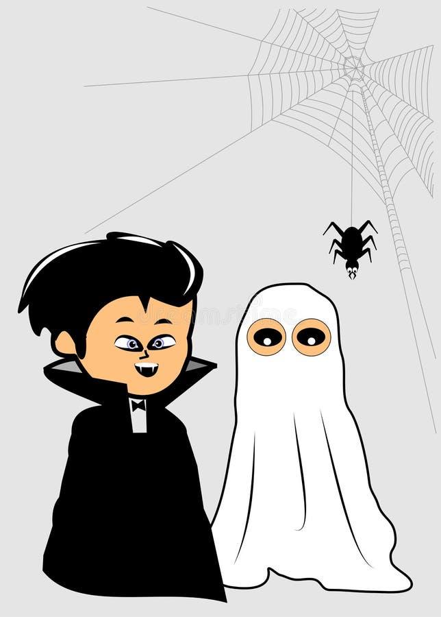 kostiumy Halloween royalty ilustracja