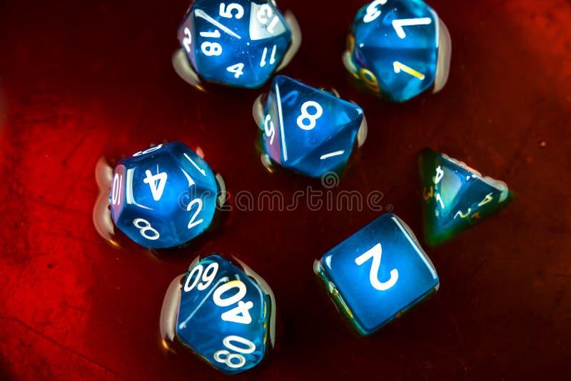Kostka do gry błękitni zdjęcie royalty free