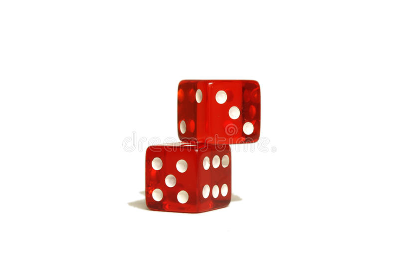 kostka do gry czerwień dwa zdjęcie stock