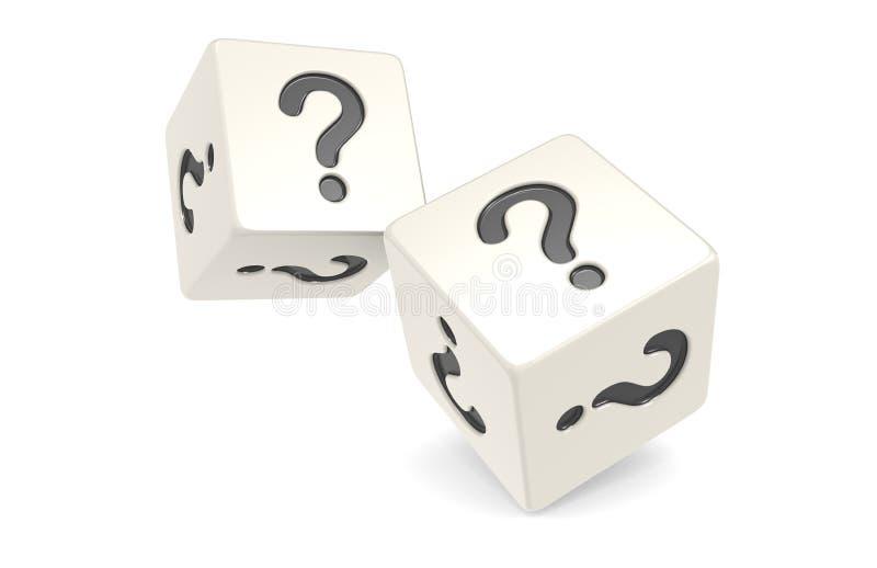kostka do gry oceny pytanie ilustracji