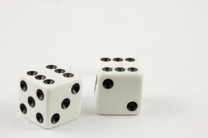 kostka do gry podwajają sixes obrazy stock