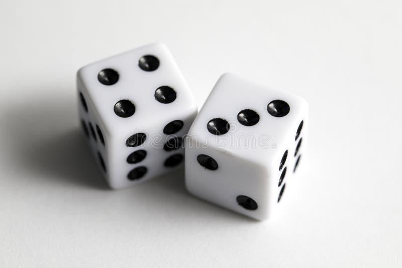 Kostka do gry 7 Siedem obrazy stock