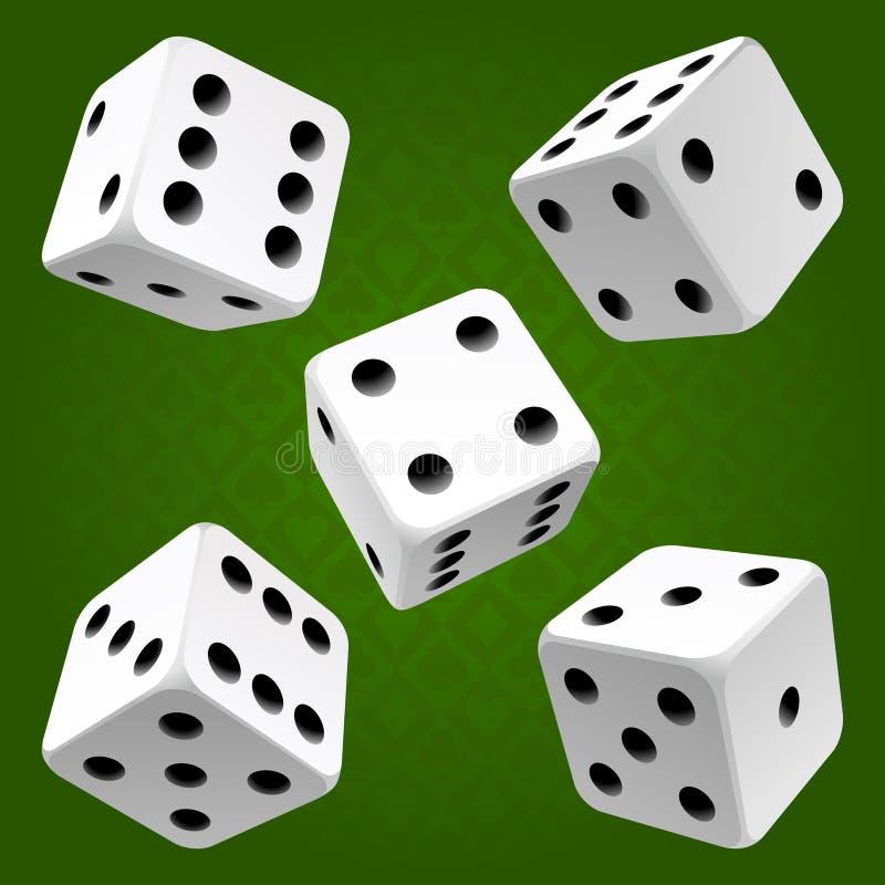 kostka do gry target4881_1_ wektorowego setu biel ilustracja wektor