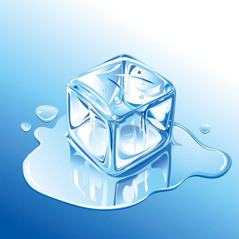 kostki lodu ilustracji