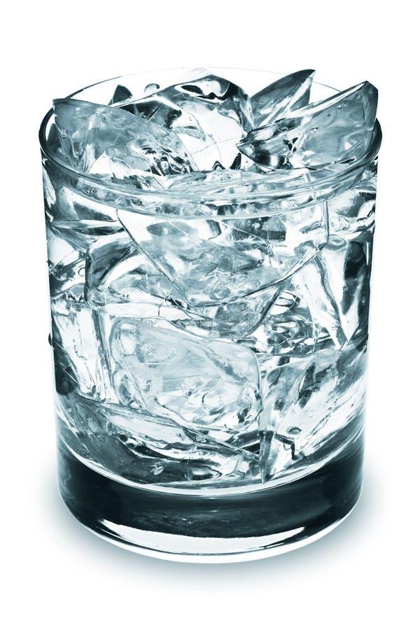 kostki lodu szkła obraz stock