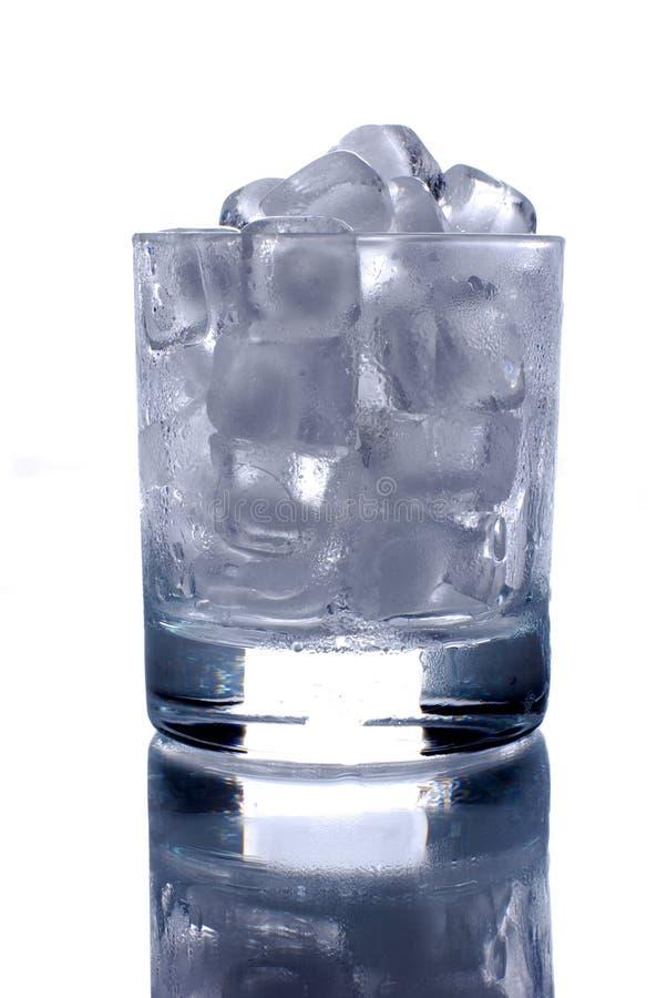 kostki lodu szkła fotografia stock