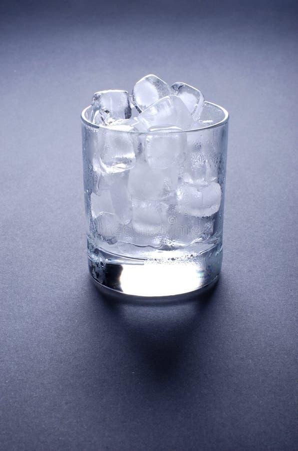 kostki lodu szkła zdjęcia stock