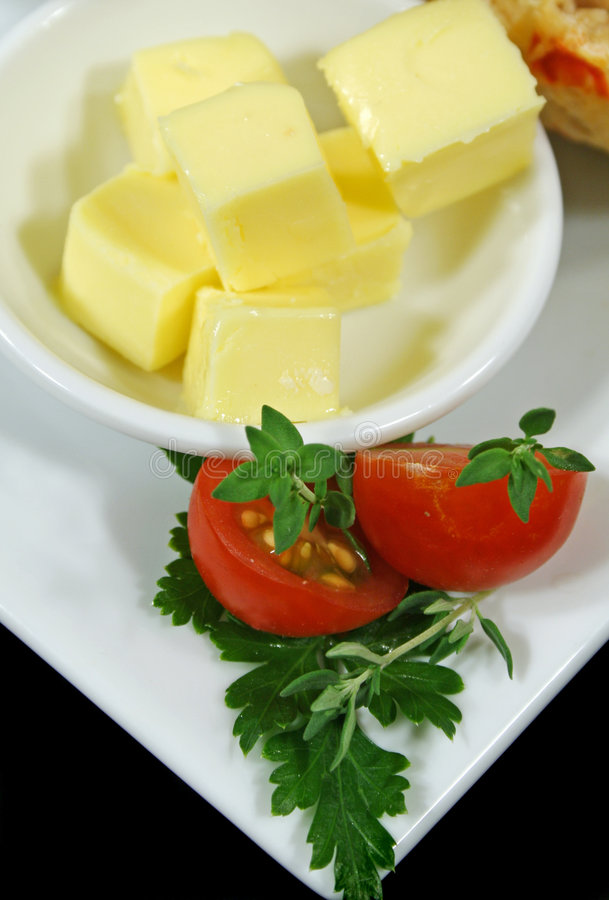kostki masła zdjęcia stock