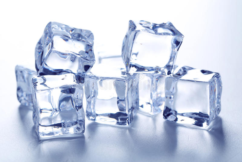 kostki podobszaru ices topnienia obrazy royalty free