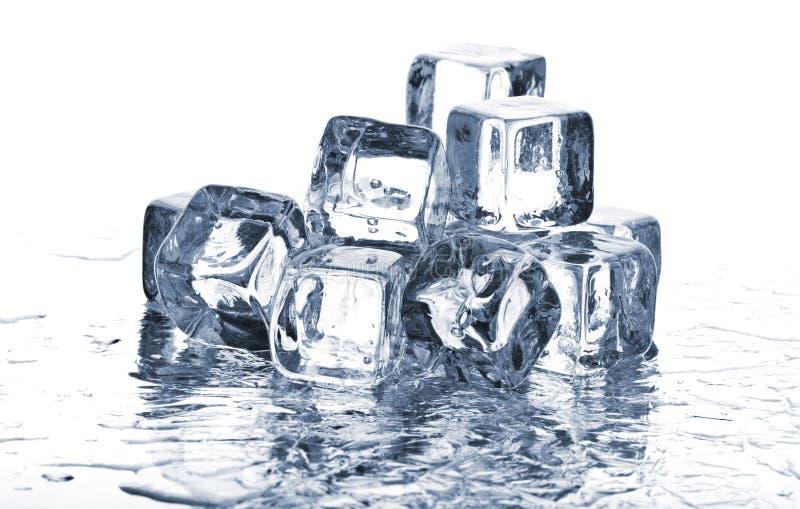 kostki podobszaru ices topnienia zdjęcia stock