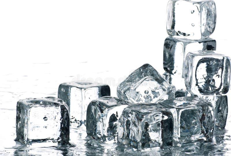 kostki podobszaru ices topnienia deszcz zdjęcia stock