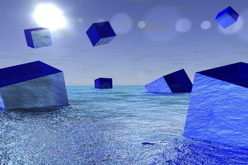 kostki szklane ilustracja wektor