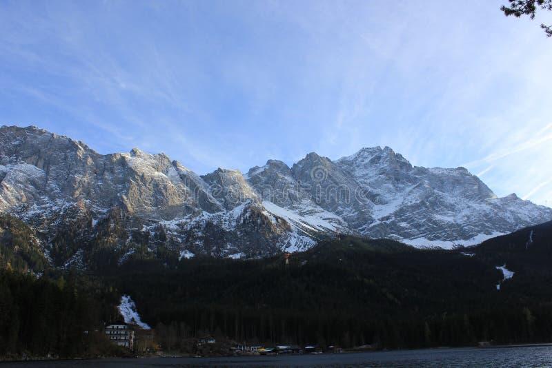 Kostkowy Zugspitze obraz royalty free