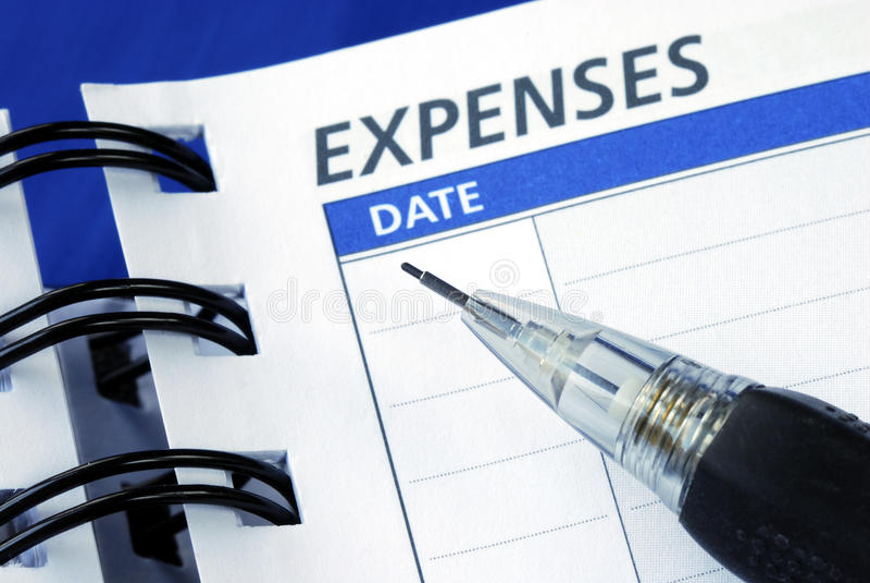 kostnader listar ut arkivbild