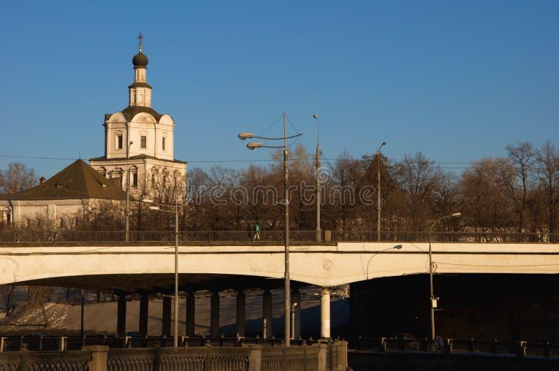 Kostomarovsky Brücke in Moskau stockfotografie