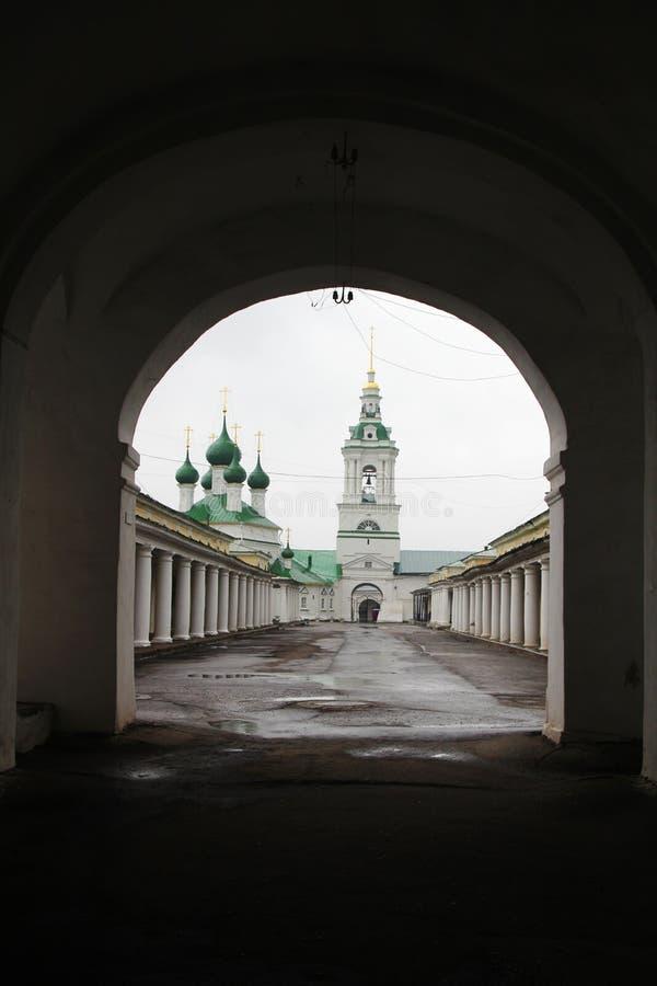 Kostroma Gostiny Dvor, Ryssland royaltyfri fotografi