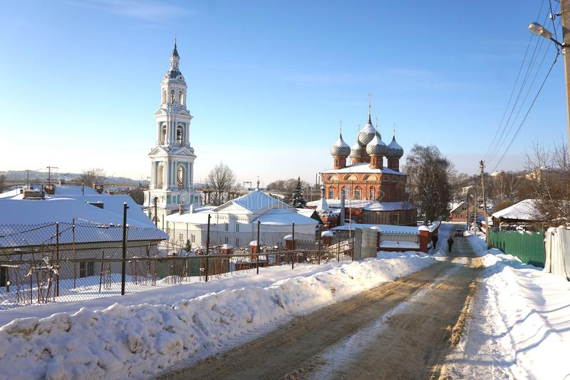 Kostroma Na Debre de Voskresenie da igreja fotos de stock