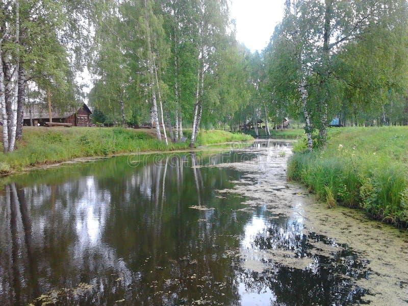 Kostroma Rosja muzeum drewniane sztuki obraz stock