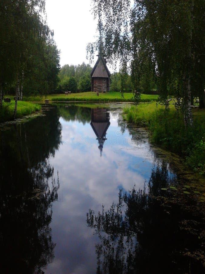 Kostroma Rosja muzeum drewniane sztuki zdjęcia royalty free