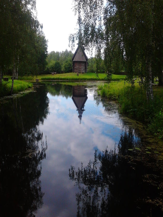 Kostroma Russia The museum of wood arts royalty free stock photos