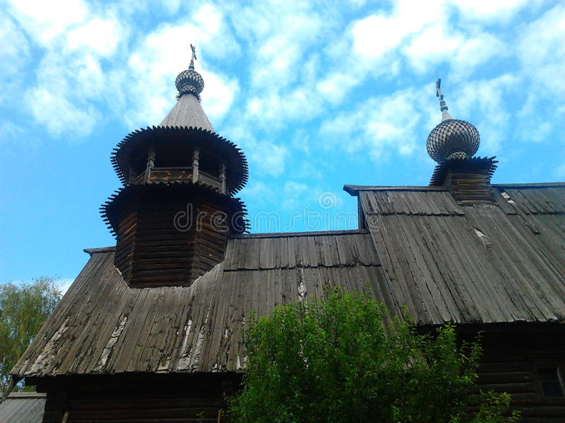 Kostroma Russia wood church stock image