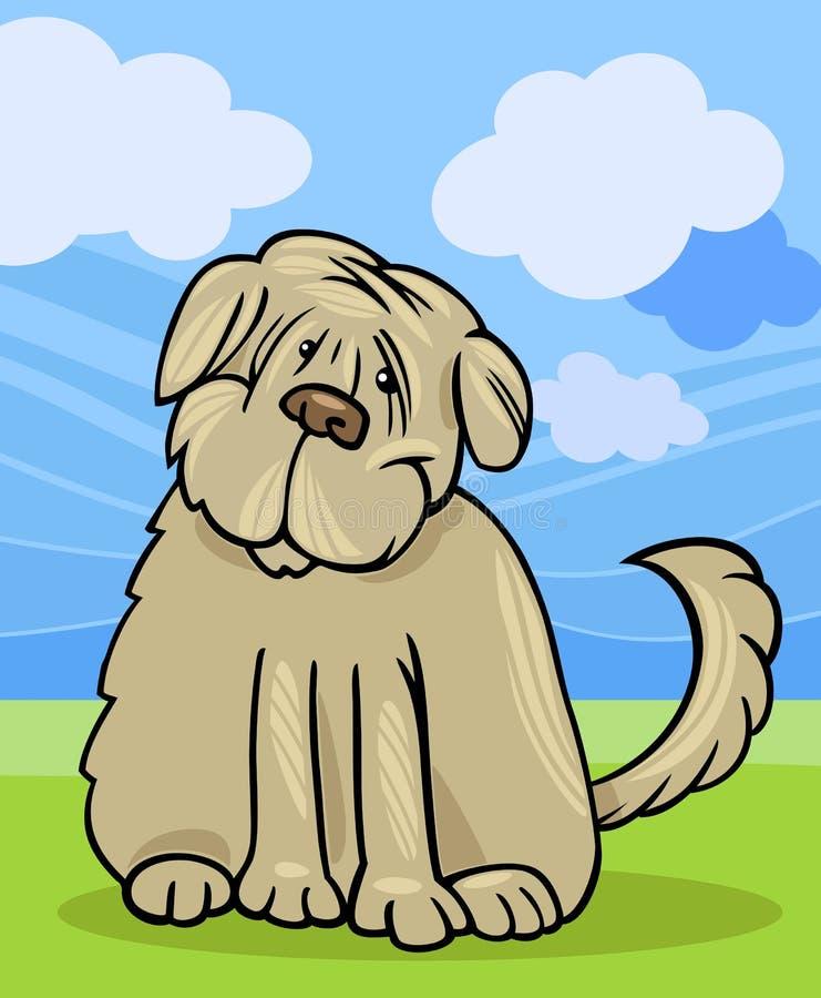 Kostrzewiasta teriera psa kreskówki ilustracja royalty ilustracja