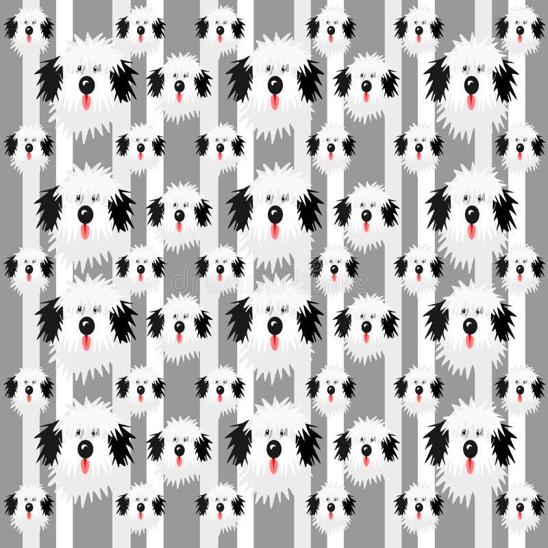 Kostrzewiastego psa wzór ilustracja wektor