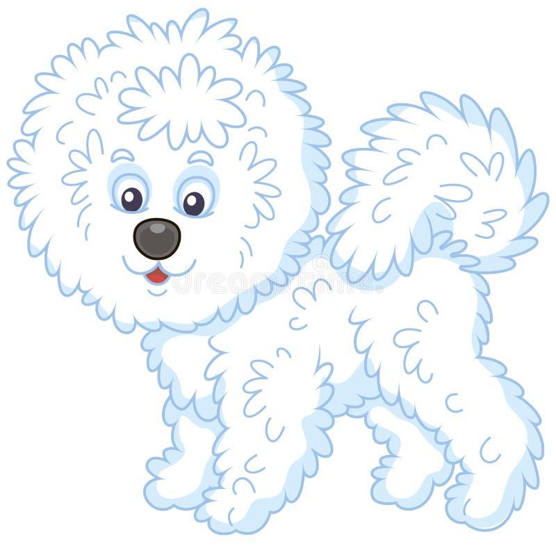Kostrzewiasty Bichon Frise pies ilustracji
