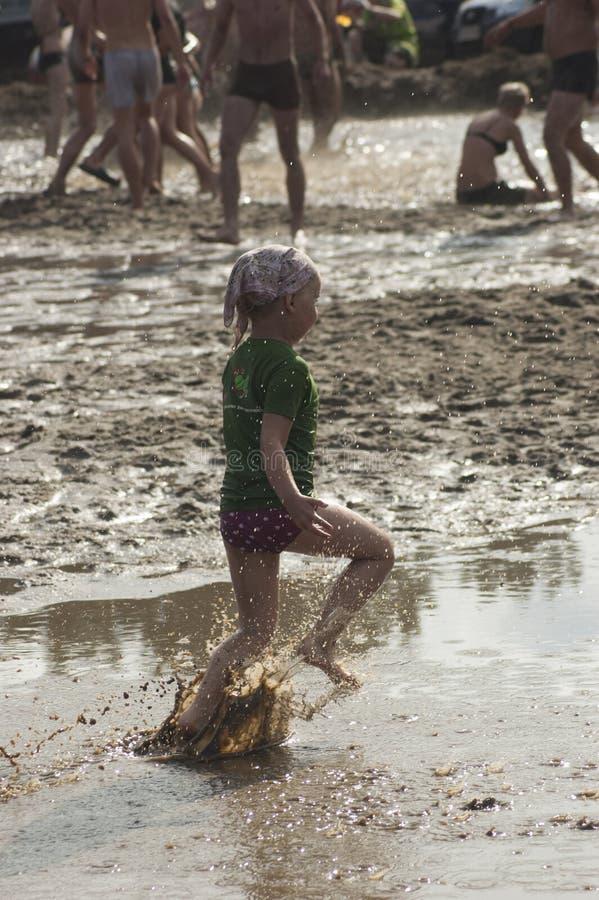 KOSTRZYN, festival de Przystane Woodstock. foto de archivo
