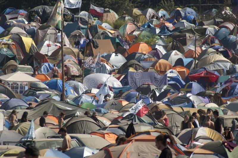 KOSTRZYN, festival de Przystanek Woodstock. imagen de archivo