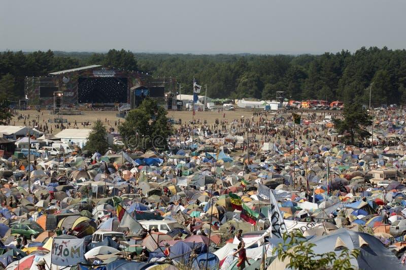 KOSTRZYN, festival de Przystanek Woodstock. foto de archivo libre de regalías