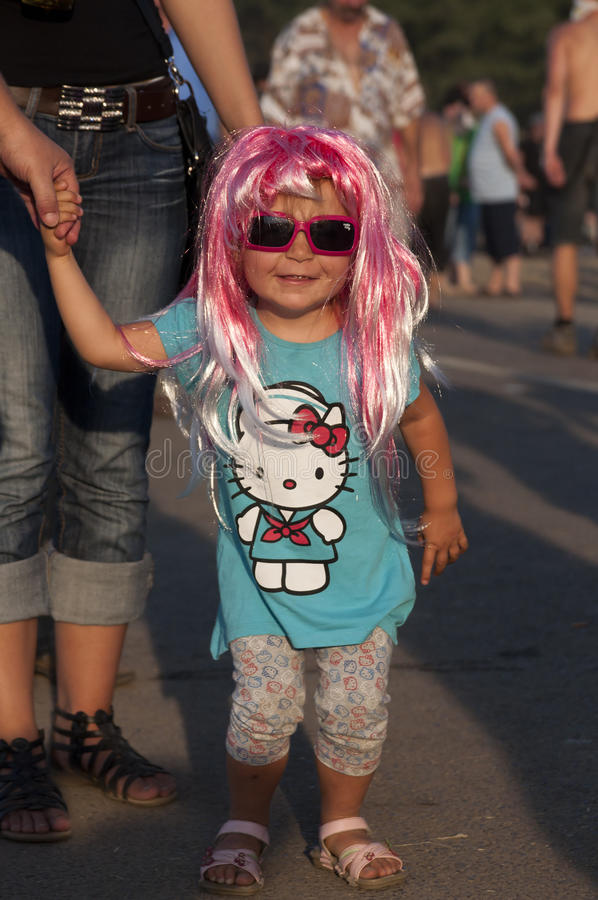 KOSTRZYN, festival de Przystanek Woodstock. imagen de archivo libre de regalías