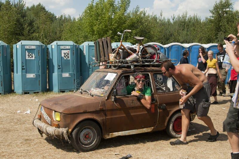 KOSTRZYN, festival di Przystane Woodstock. fotografie stock