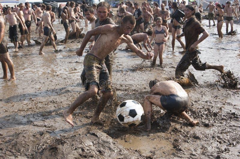 KOSTRZYN, festival di Przystanek Woodstock. fotografie stock