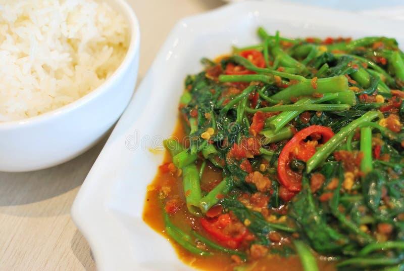 Kostspielig würziges Gemüse der chinesischen Art lizenzfreie stockbilder