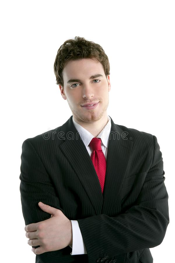Kostuum van de het portretband van de zakenman het jonge knappe royalty-vrije stock fotografie