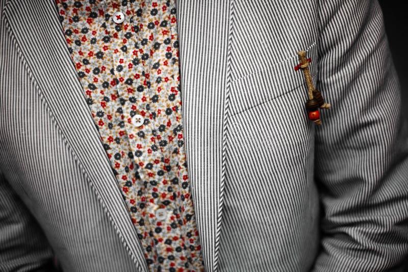 Kostuumdetail royalty-vrije stock fotografie