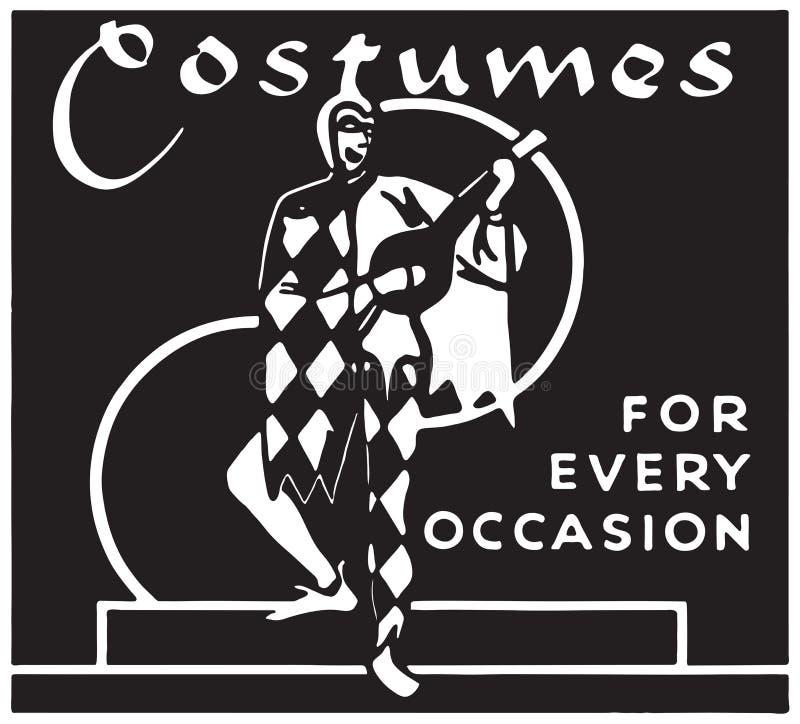 Kostuums voor Elke Gelegenheid vector illustratie