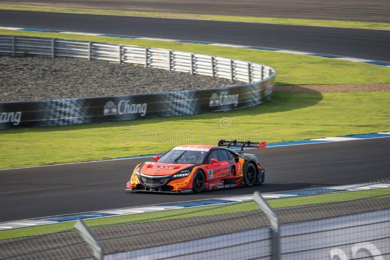 Kosuke Matsuura van het RENNENDE TEAM AGURI van AUTOBACS in GT500 Qualiflyi stock foto's