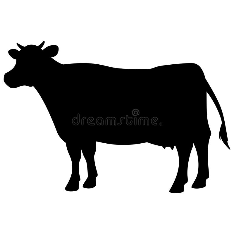 Kosymbol stock illustrationer