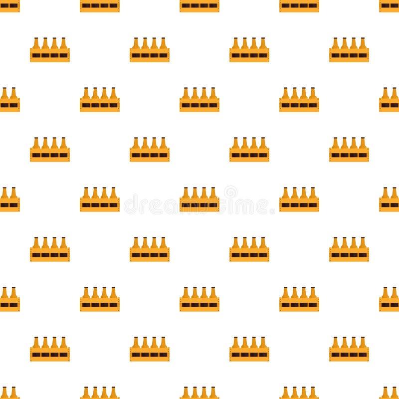 Kosz butelki piwa wzoru bezszwowy wektor ilustracji