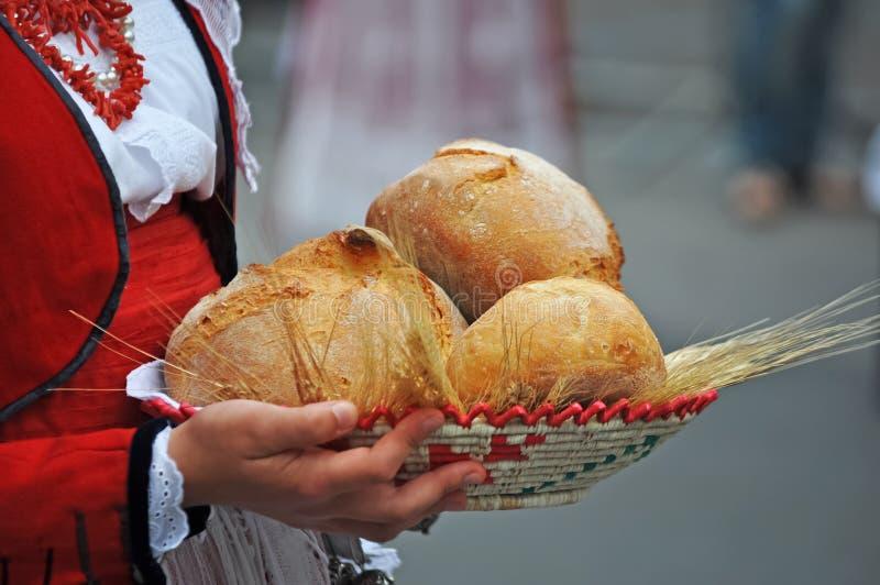 Kosz chleb zdjęcia royalty free