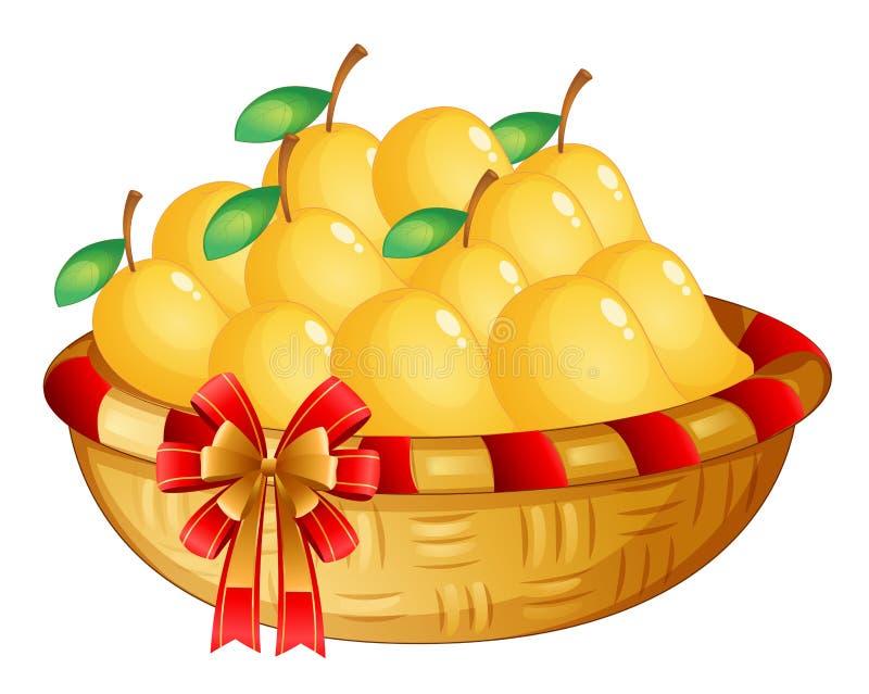 Kosz dojrzali mango royalty ilustracja