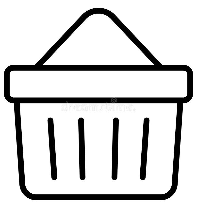 Kosz, fura Odizolowywał Wektorową ikonę która może łatwo redaguje lub modyfikująca ilustracja wektor