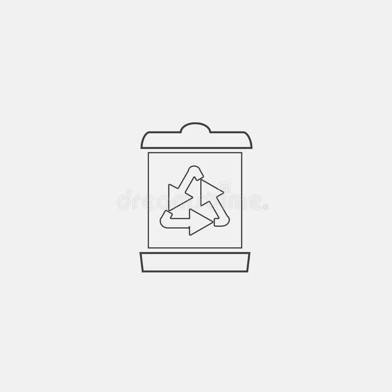 kosz ikona przetwarza ilustracji