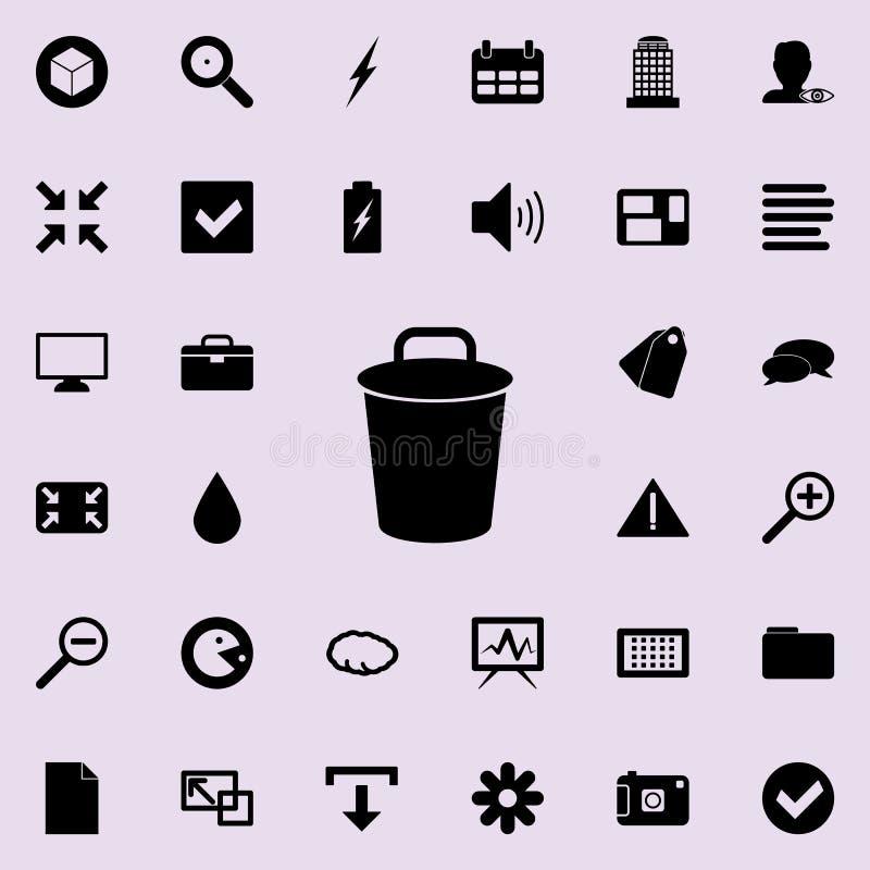 Kosz ikona Szczegółowy set minimalistic ikony Premia graficzny projekt Jeden inkasowe ikony dla stron internetowych, sieć projekt ilustracji