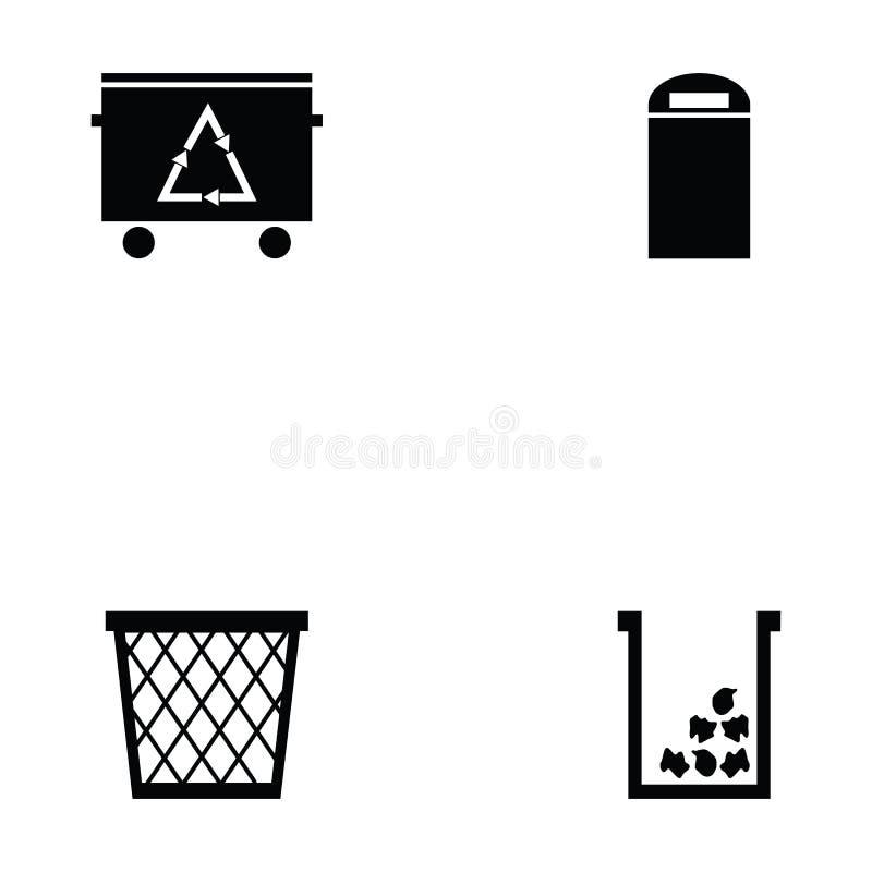 Kosz ikony set ilustracja wektor