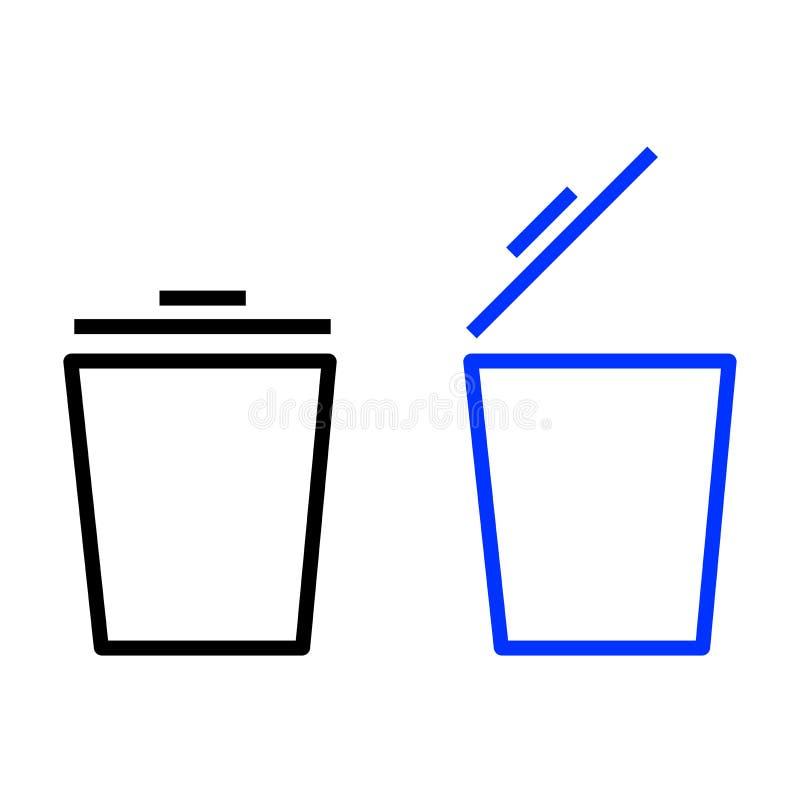 Kosz ikony set ilustracji