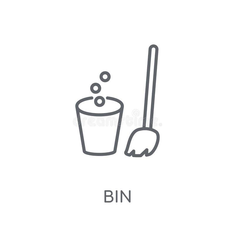 Kosz liniowa ikona Nowożytny konturu kosza logo pojęcie na białym backgr ilustracji